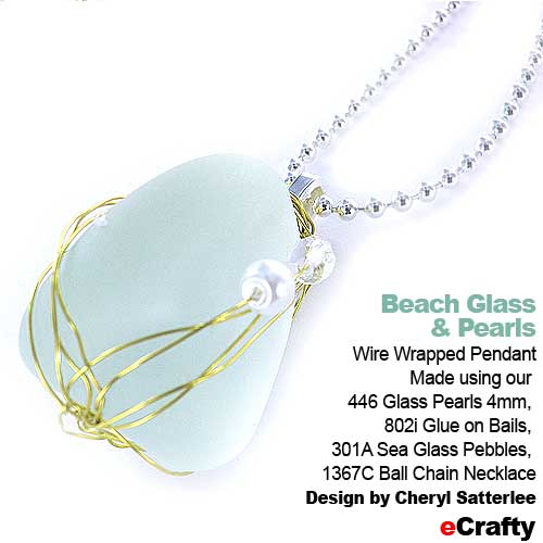 4 Fun Pendant DIYs: Falling Crystals, Wrapped Beach Glass, Wire ...