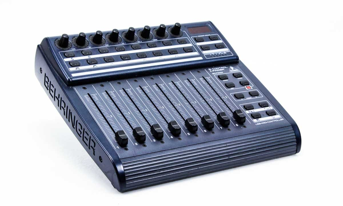behringer bcf2000 b control usb midi controller with 8