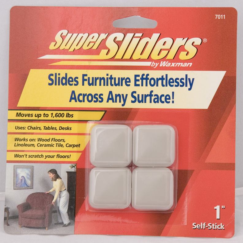 Waxman 4701195n 1 Quot Self Stick Square Super Sliders Ebay