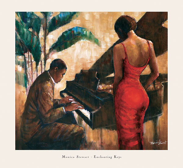 Enchanting Keys Monica Stewart African American Print