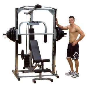 Buy home gym fitness equipment - BodySolid PowerLine Smith Machine System Total Home Gym