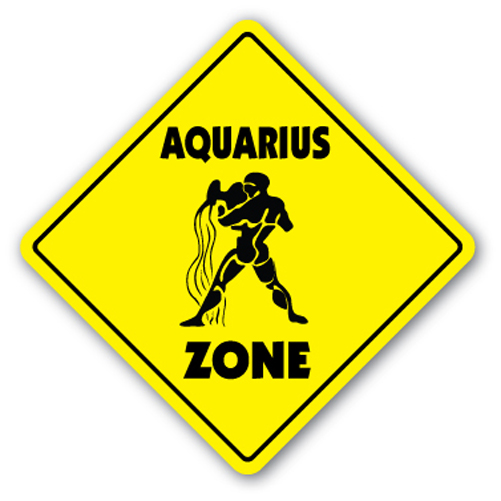 aquarius zone sign novelty gift zodiac horoscope january february birthday ebay. Black Bedroom Furniture Sets. Home Design Ideas