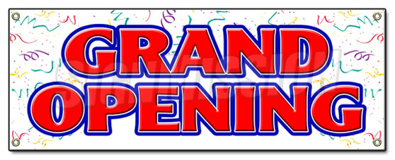 Grand Opening Banner Sign New Store Sign Signs Coming Soon