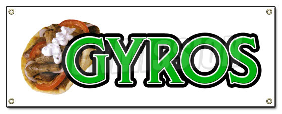 Gyros Banner Sign Greek Gyro Sign Signs Stand Food Greece