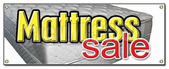 Mattress Sale Banner Sign Store Signs 50 Bed Beds Sleep