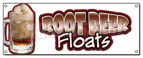 Root Beer Floats Banner Sign Rootbeer Float Mug Ice Cream