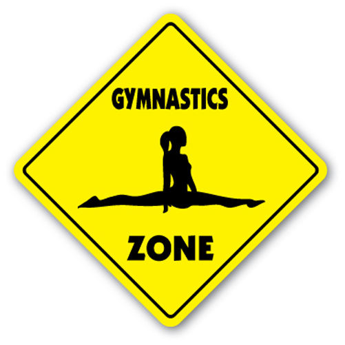 Gymnastics zone sign novelty gift sport gym award trophy