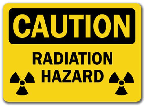 Caution Sign - Radiation Radiation Sign