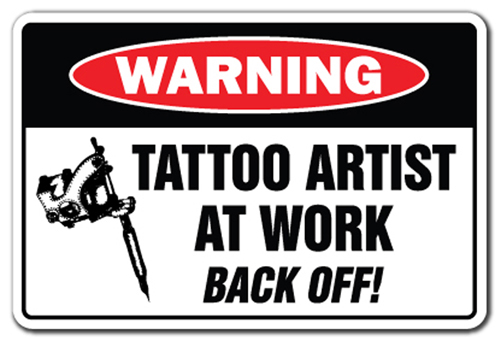 Tattoo shop signs funny humor pictures to pin on pinterest for Street sign tattoos