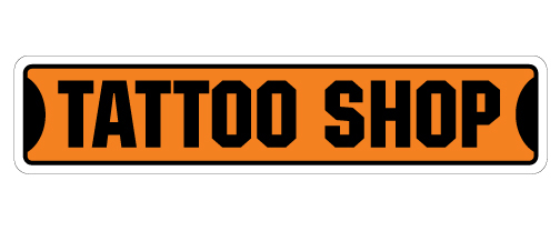 Tattoo shop street sign new signs tattoos ink guns artist for Street sign tattoos