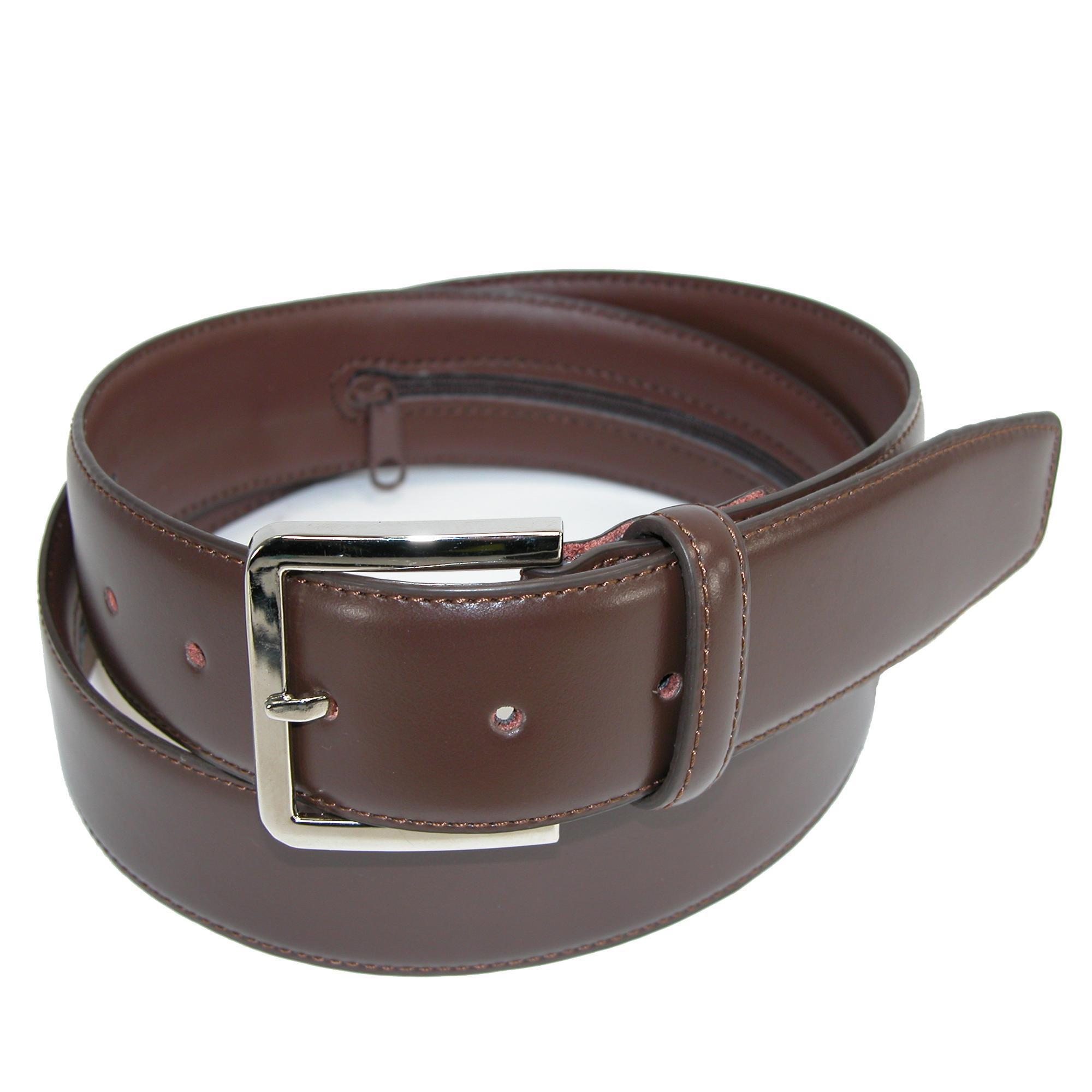 Ctm Mens Leather Travel Money Belt (large Sizes Available)