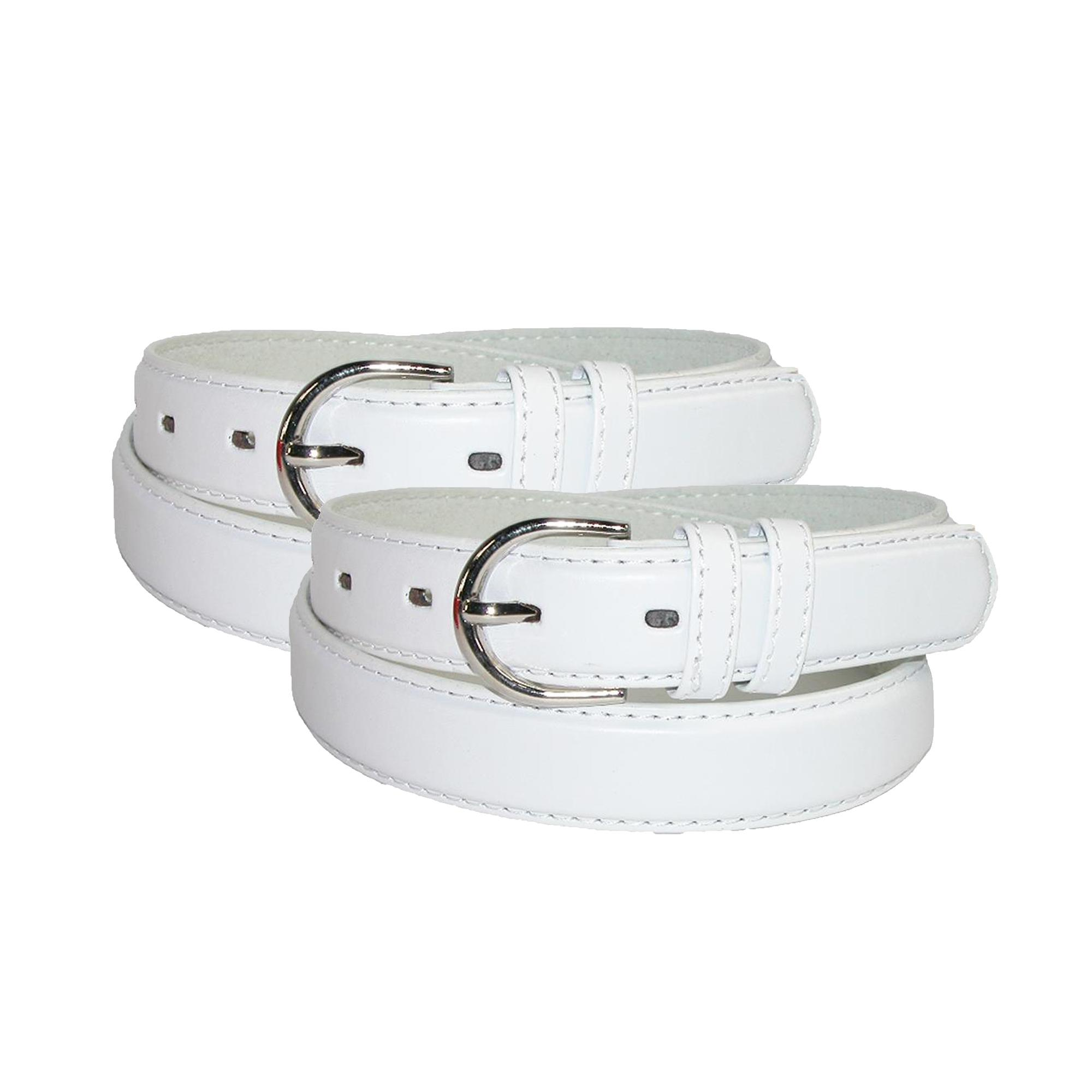 Ctm Womens Leather 1 1/8 Inch Dress Belt (pack Of 2)