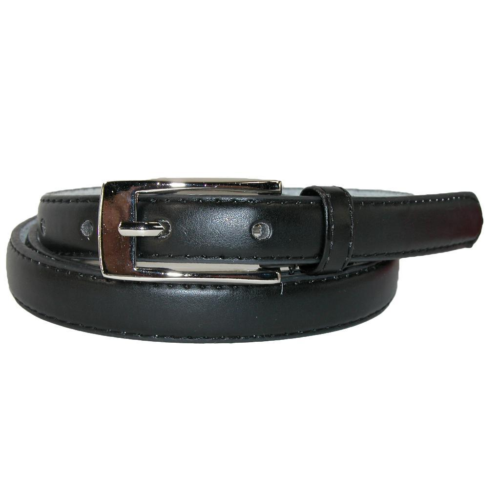 Ctm Womens Leather 3/4 Inch Skinny Dress Belt (pack Of 2)