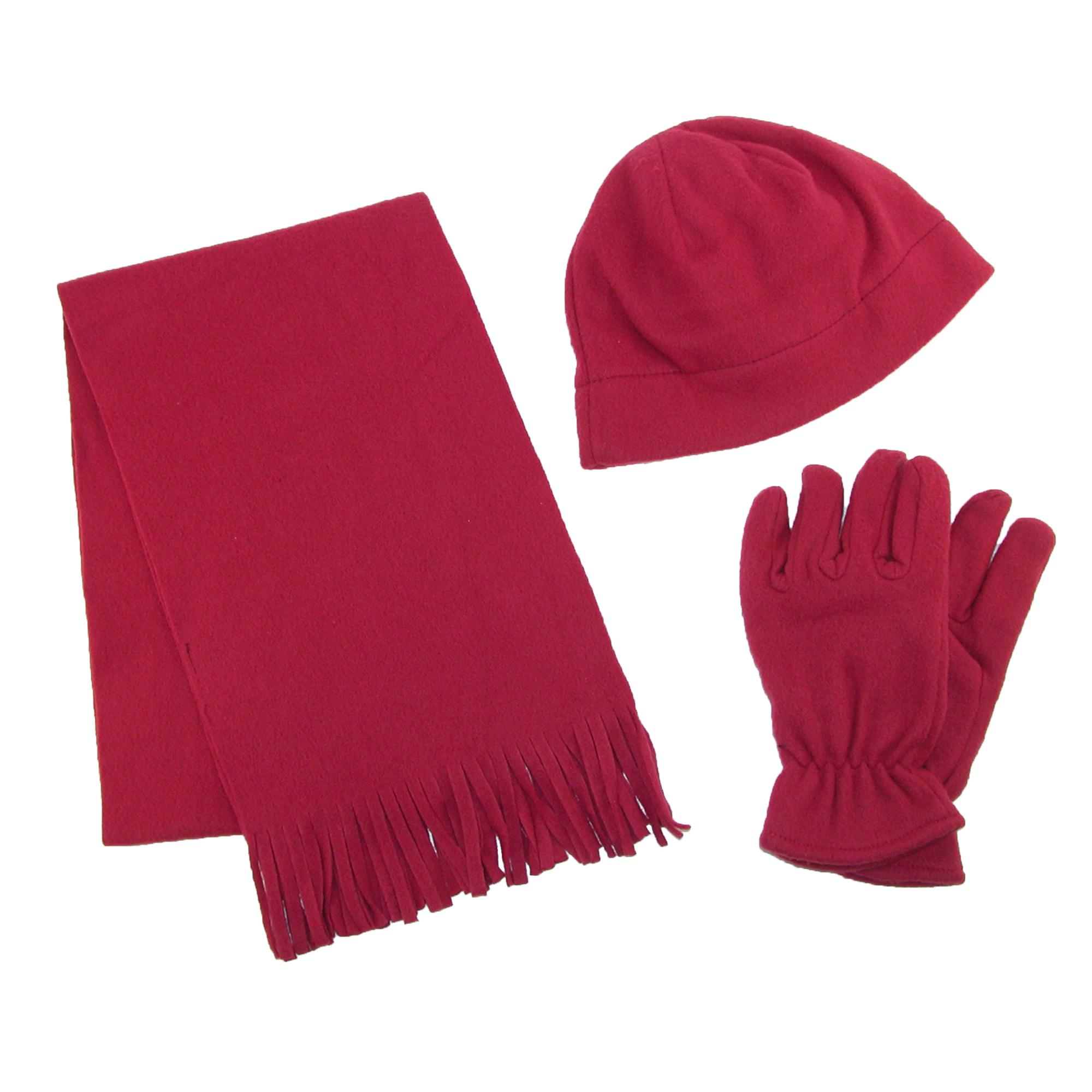 new grand s fleece hat gloves and scarf