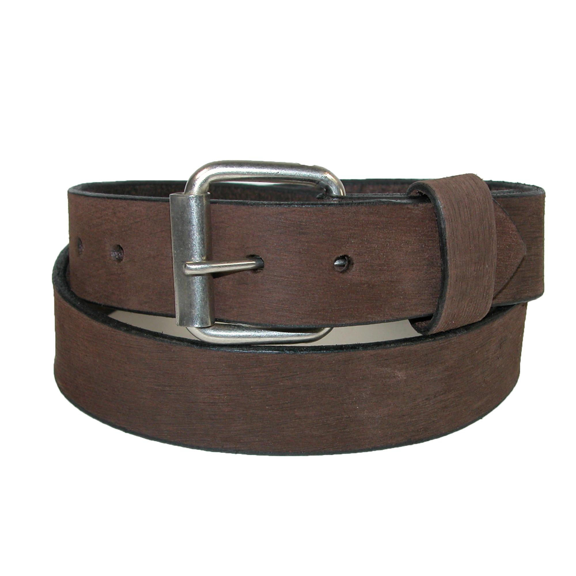 Boston Leather Men's Bark Leather 1.5 Inch Belt