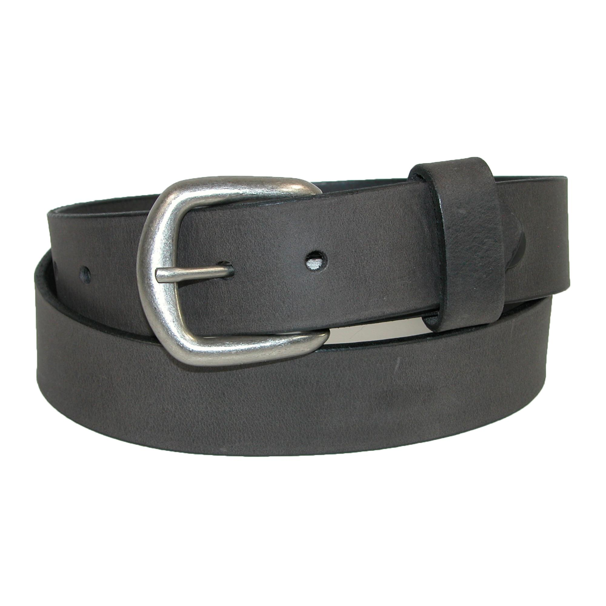 Boston Leather Men's Oil Tanned Pull Up Leather Belt With Removable Buckle