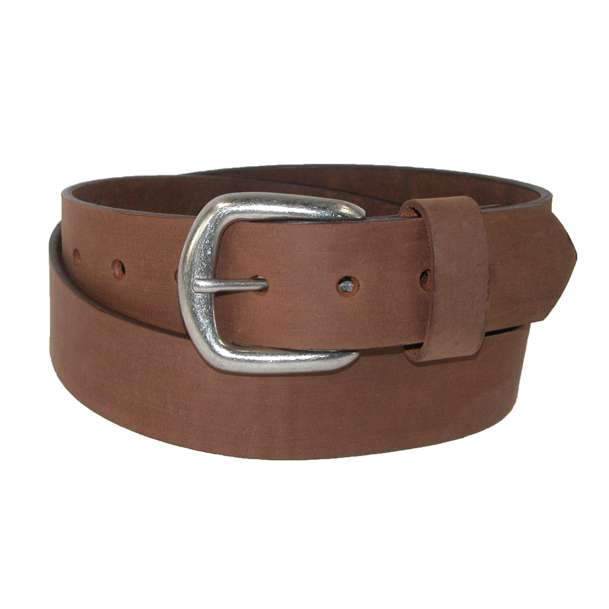 Boston Leather Men's Aged Bark Chieftain Leather Bridle Belt