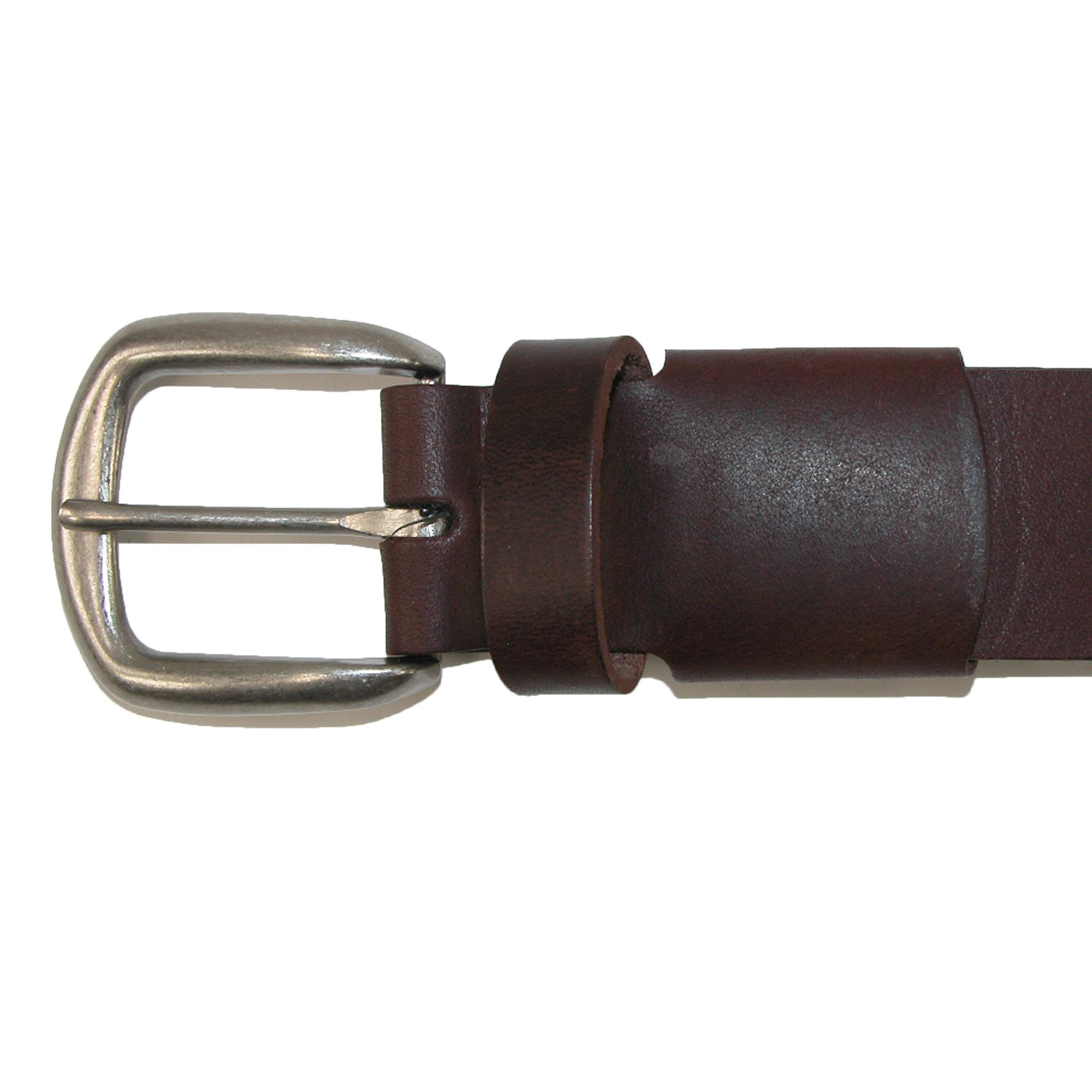New Boston Leather Men/'s Leather Bridle Belt with Hidden Stretch Elastic
