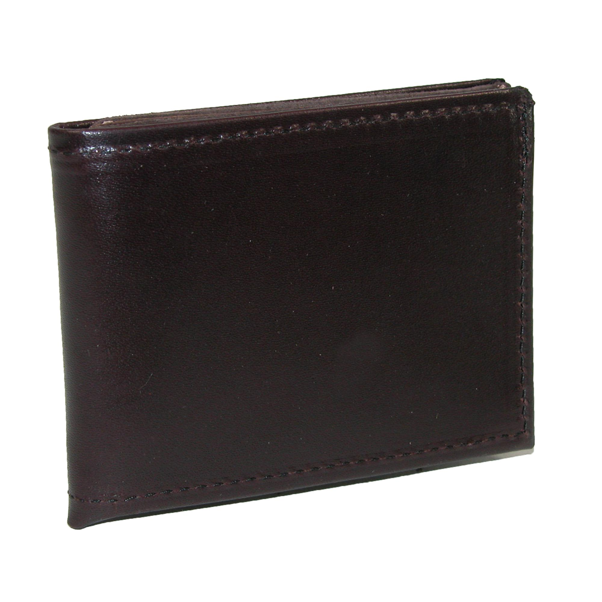 Boston Leather Men's Smooth Leather Billfold Wallet