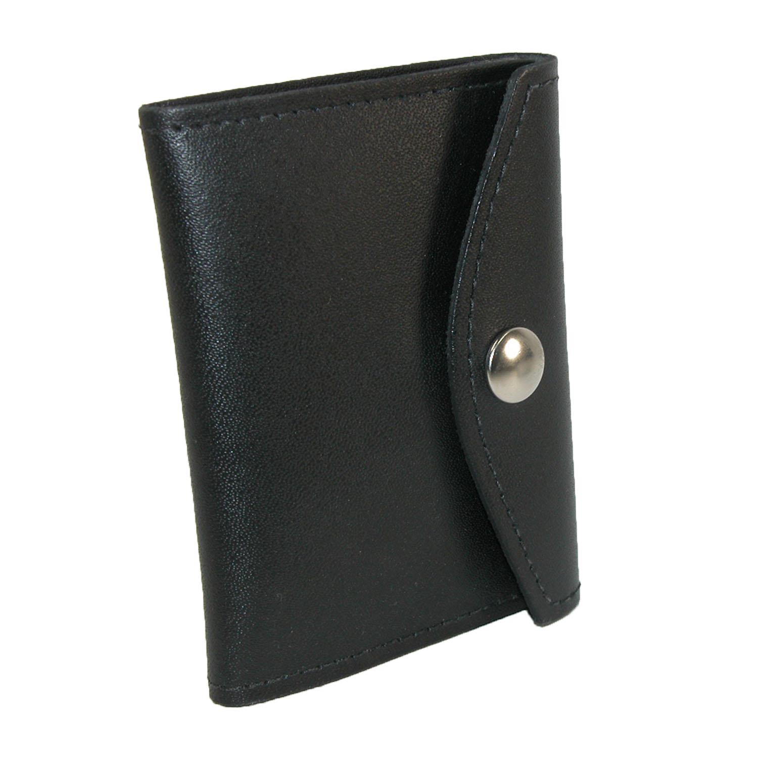 Boston Leather Leather Book Style Badge Case With Snap Closure