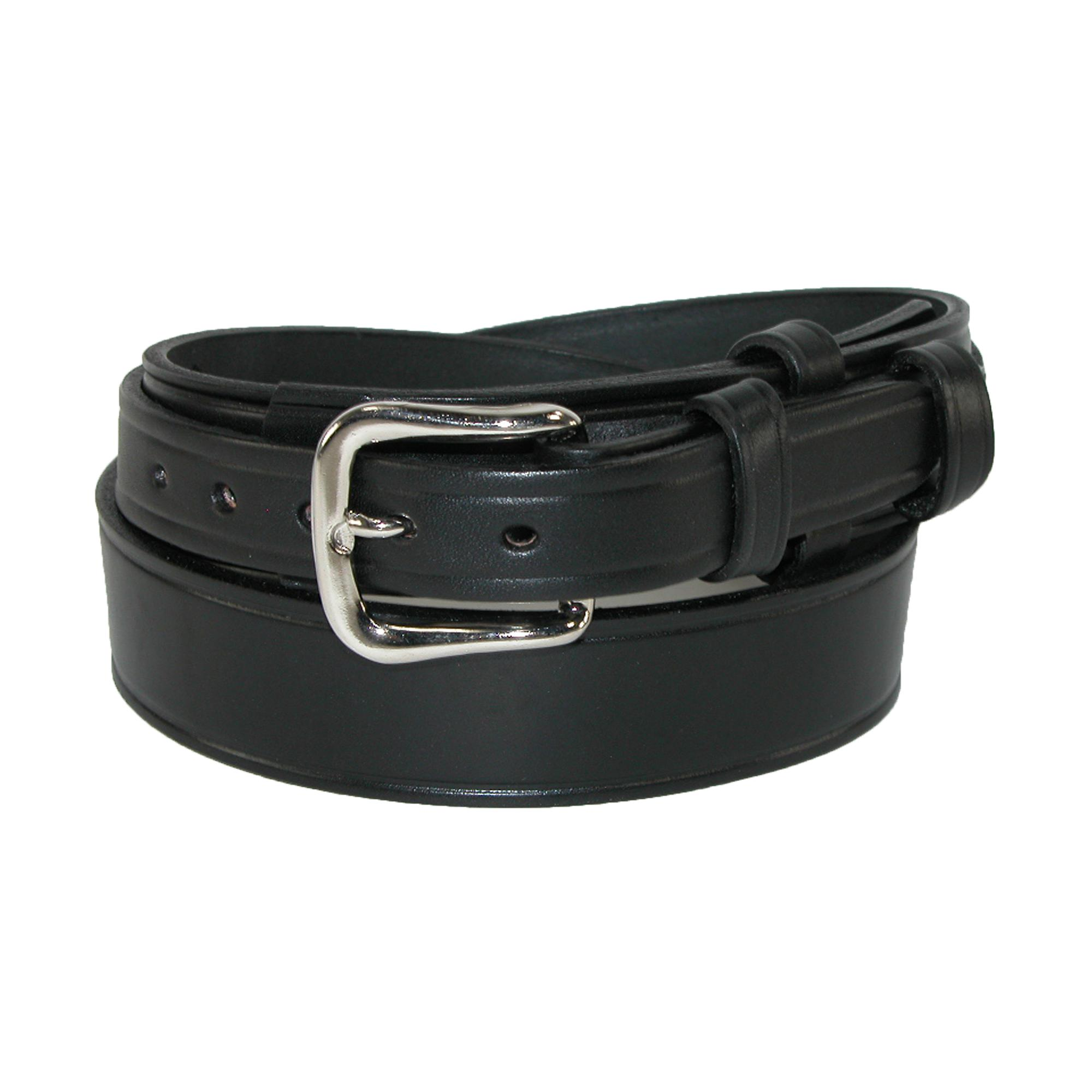 Boston Leather Mens Leather 1 1/2 Inch Heavy Duty Ranger Belt