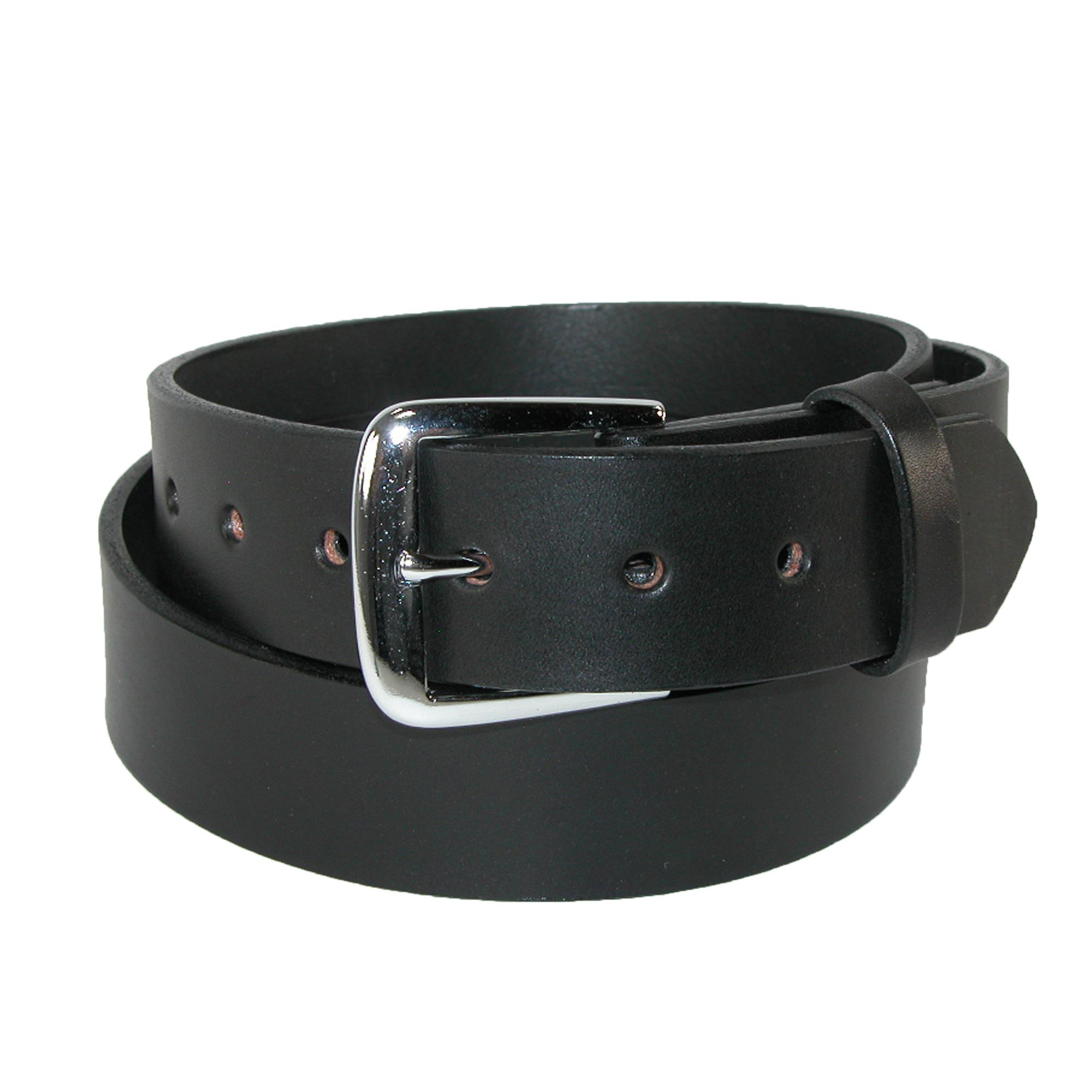 Boston Leather Men's Big & Tall Leather 1 1/2 Inch Bridle Belt
