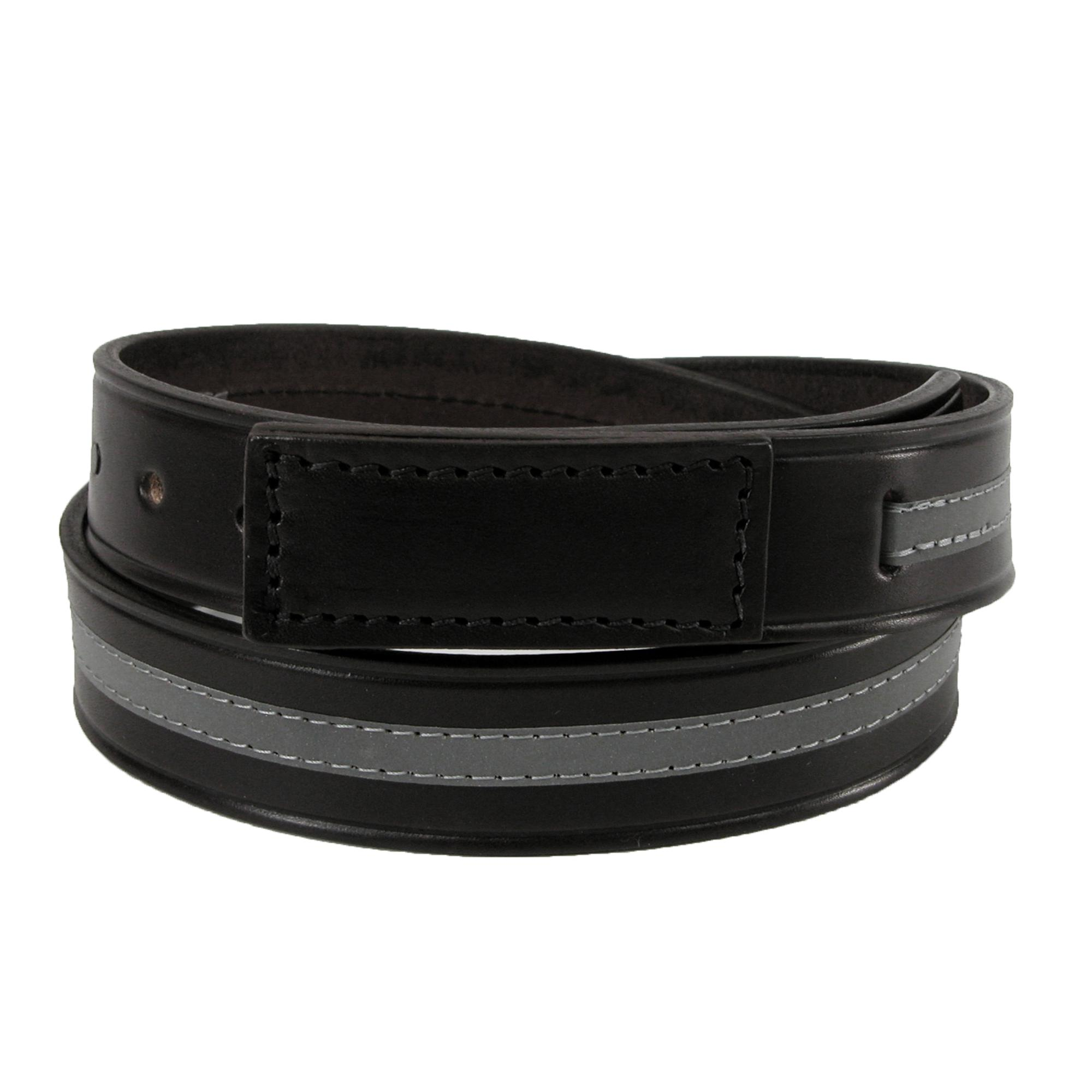 Boston Leather Men's Leather Reflective Movers & Mechanics Belt