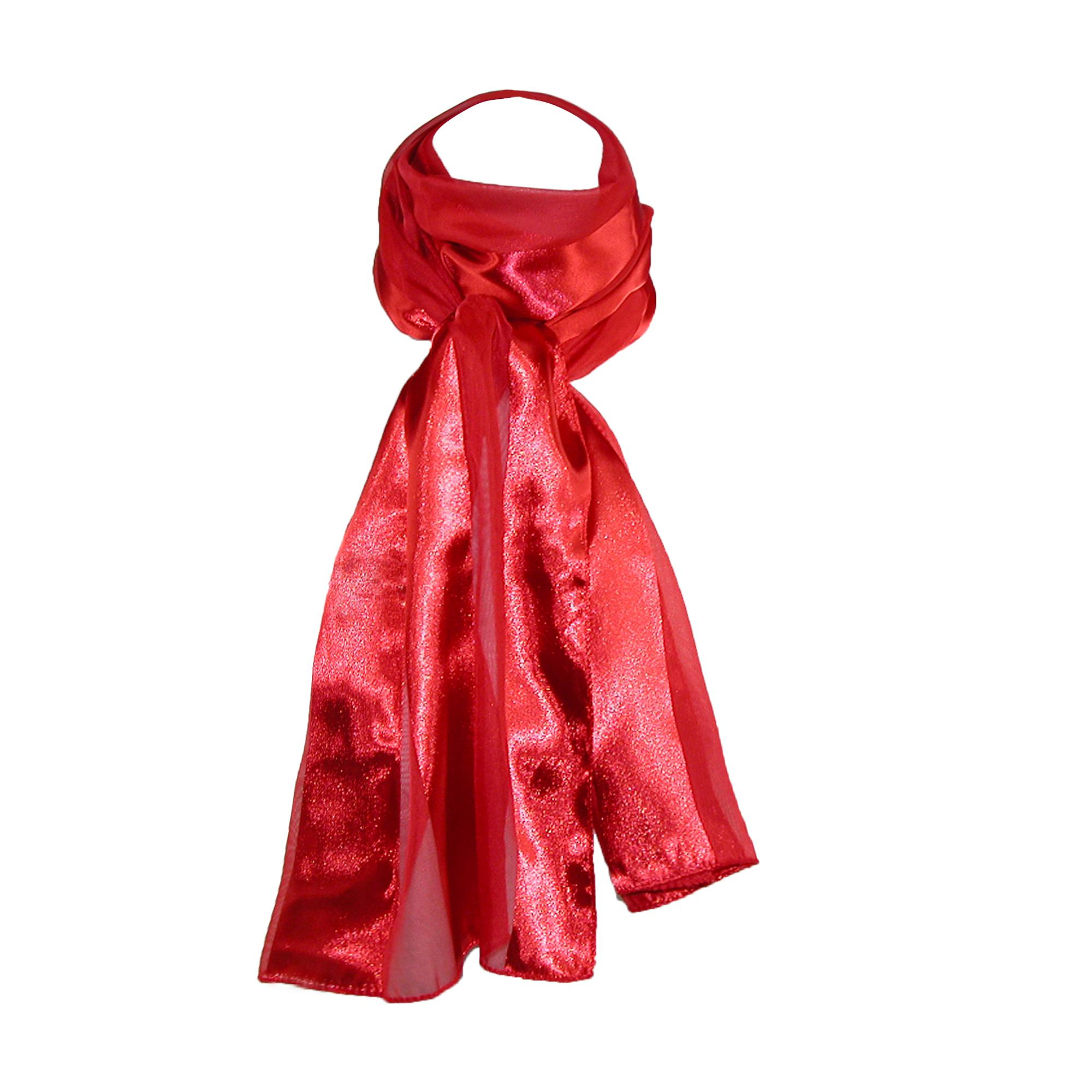 Ctm Womens Long Satin Solid Color Scarves (pack Of 6)