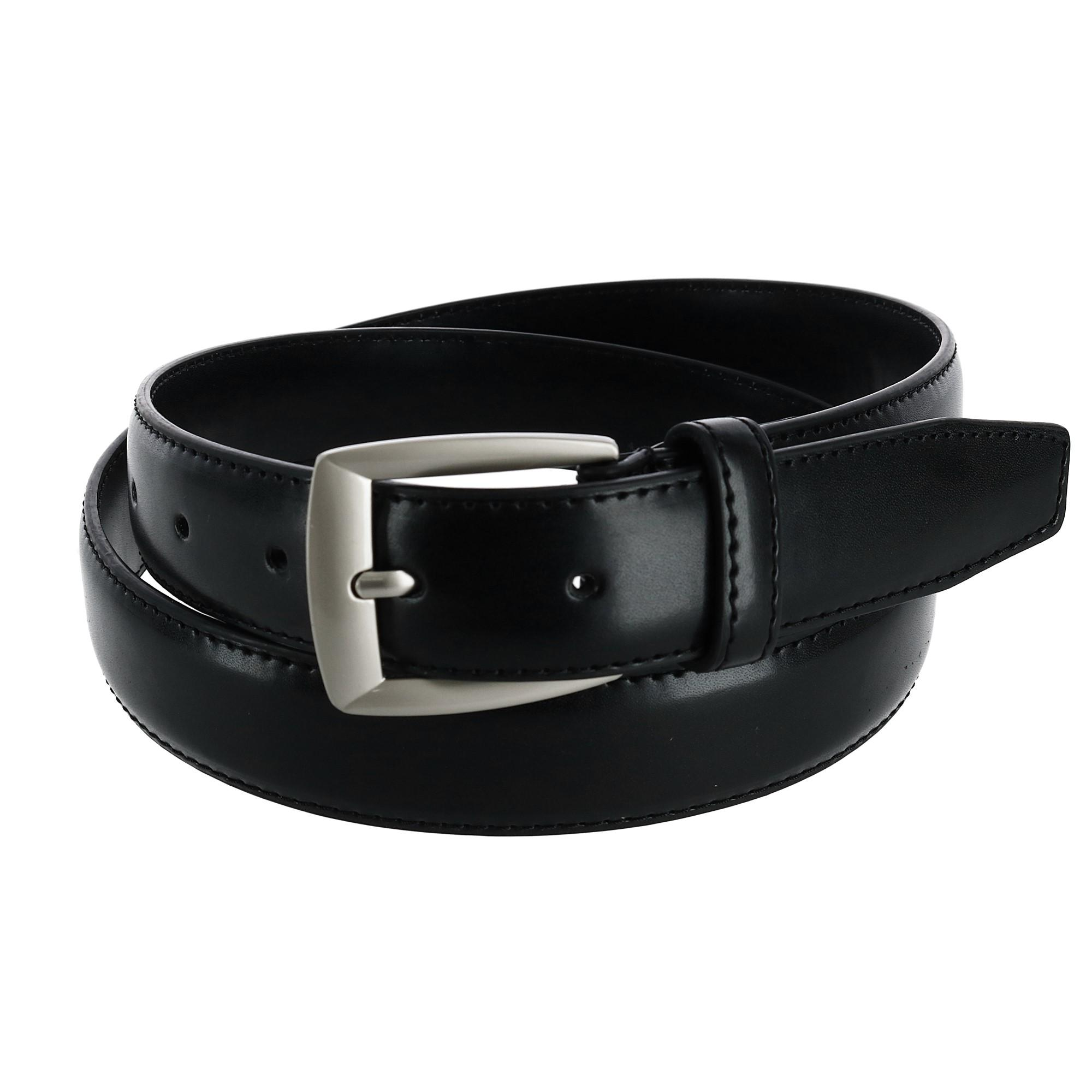 Ctm Mens Leather 1 1/4 Inch Basic Dress Belt