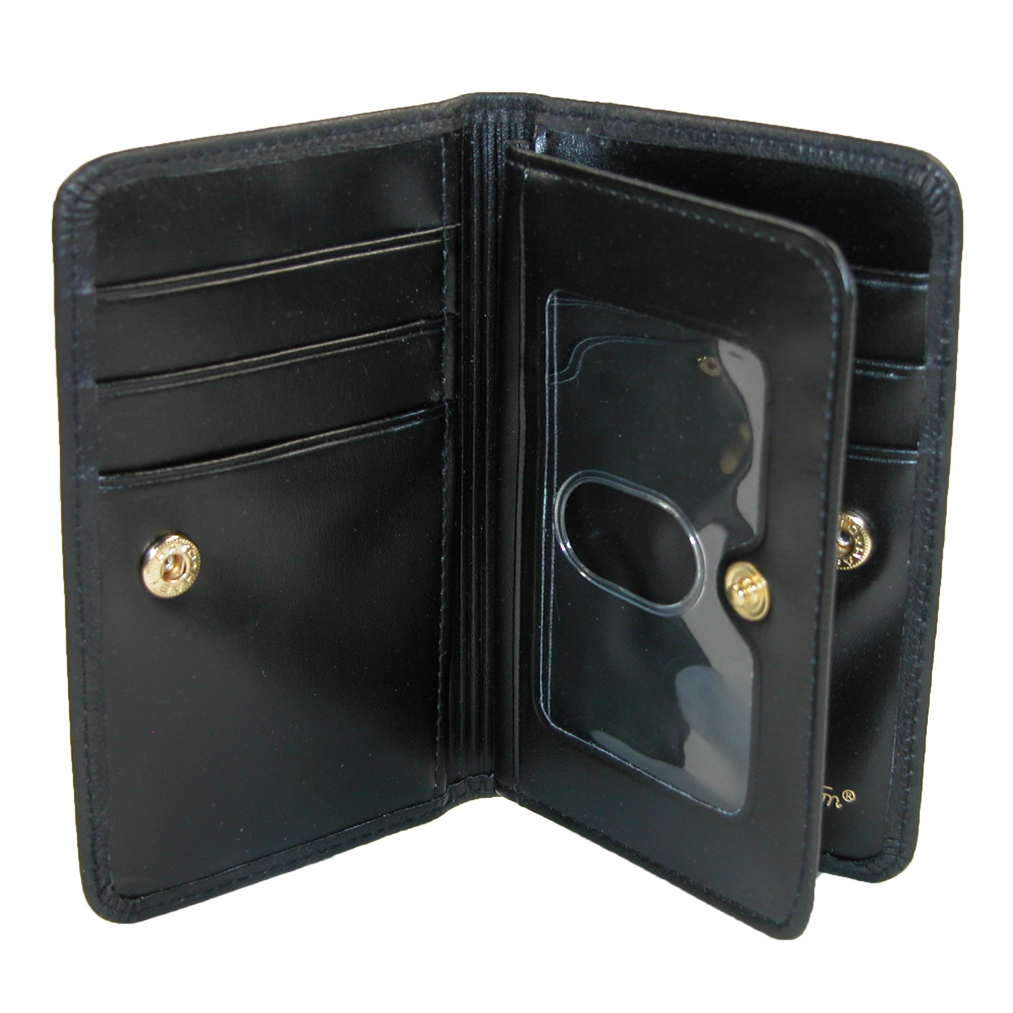 New buxton women39s leather snap card case wallet with for Buxton business card case