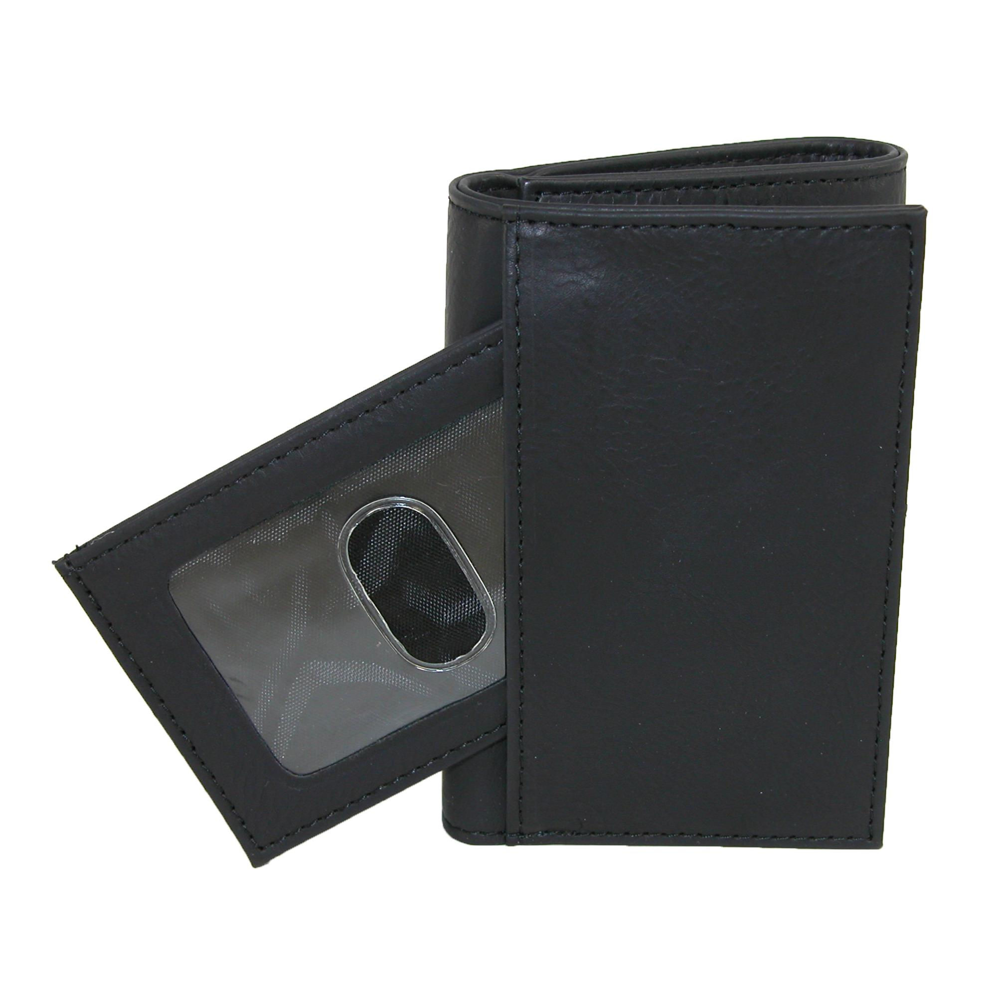 New Buxton Men/'s Leather RFID ID Trifold Travel Wallet