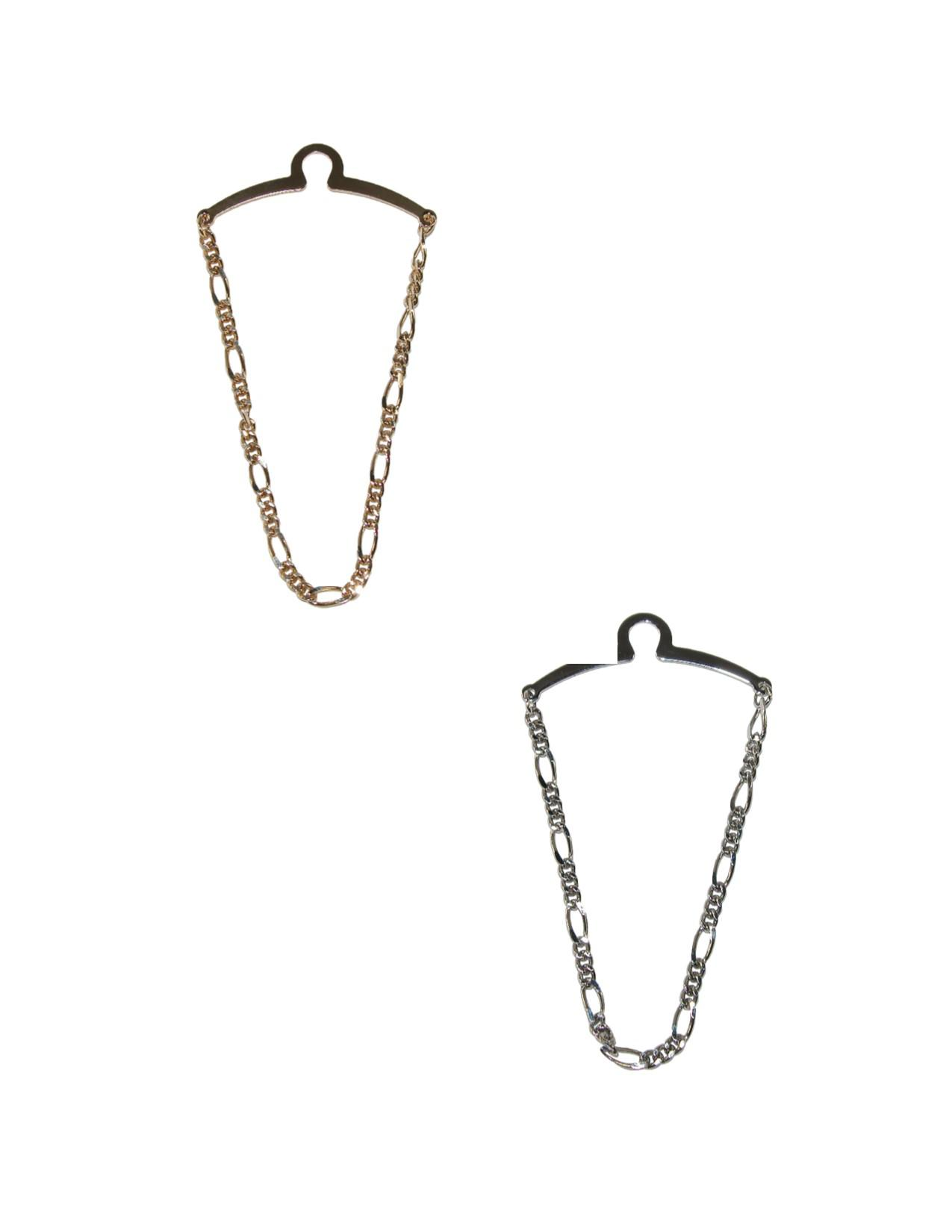 Competition Inc. Mens Figaro Style Link Tie Chains (pack Of 2)
