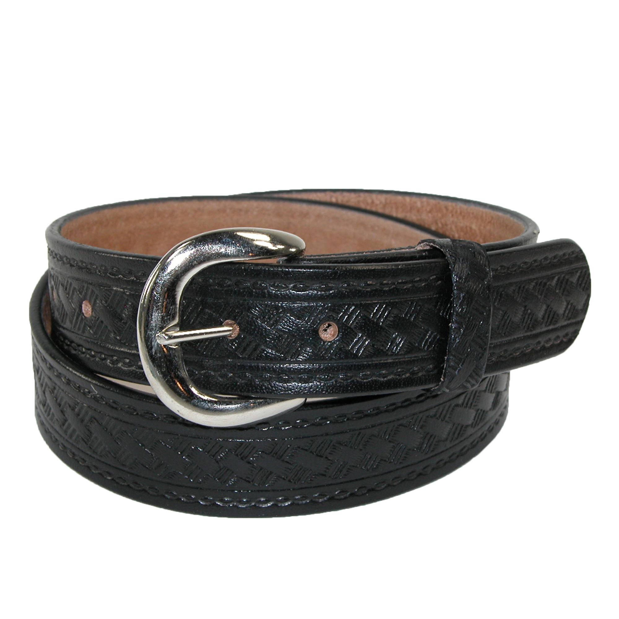 New Ctm Men S Leather 1 3 8 Inch Western Belt With