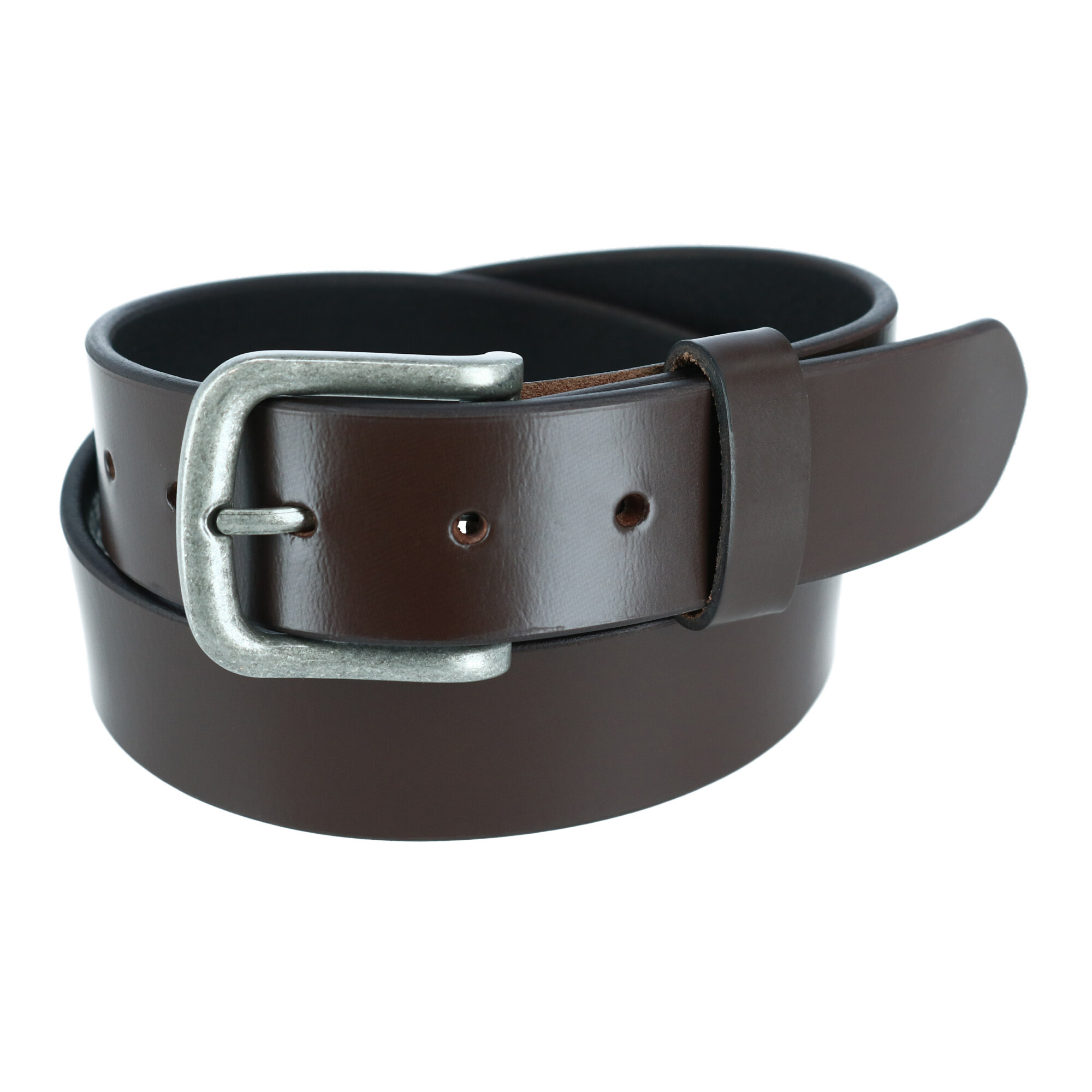 Ctm Mens Leather 1 3/8 Inch Removable Buckle Bridle Belt