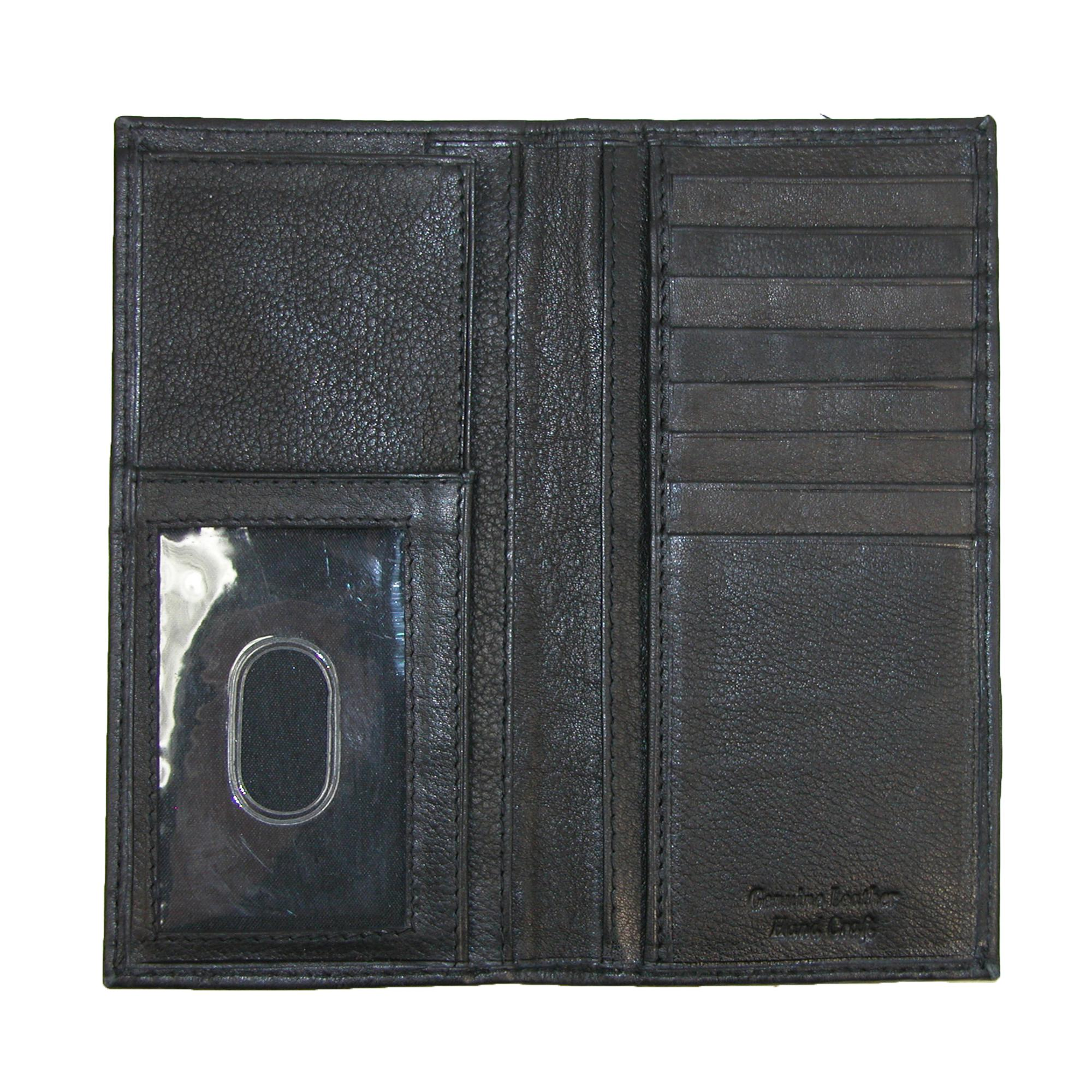 New Paul /& Taylor Leather Card Holder and Checkbook Cover Wallet