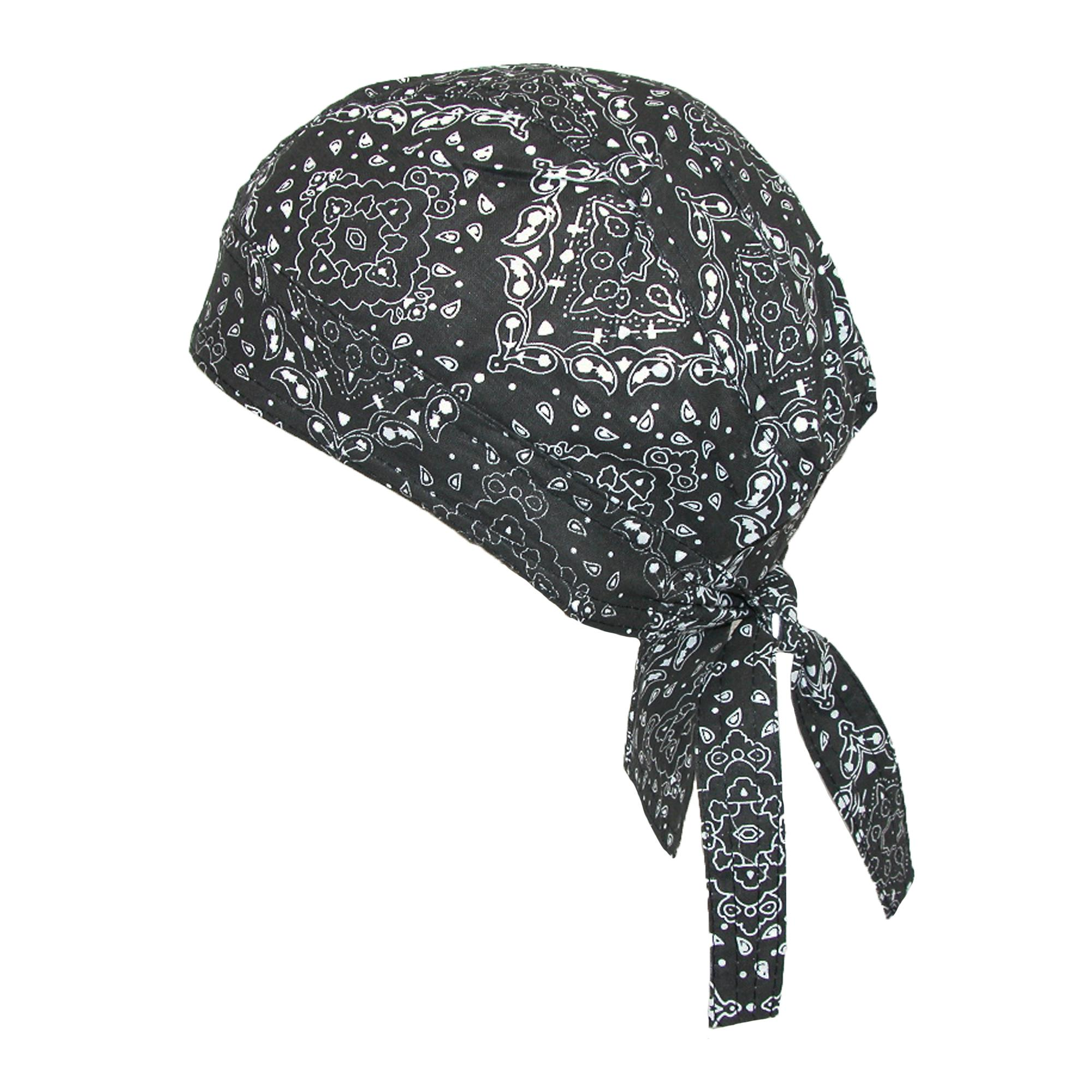 CTM Men's Cotton Unlined Paisley Biker Do Rag Cap