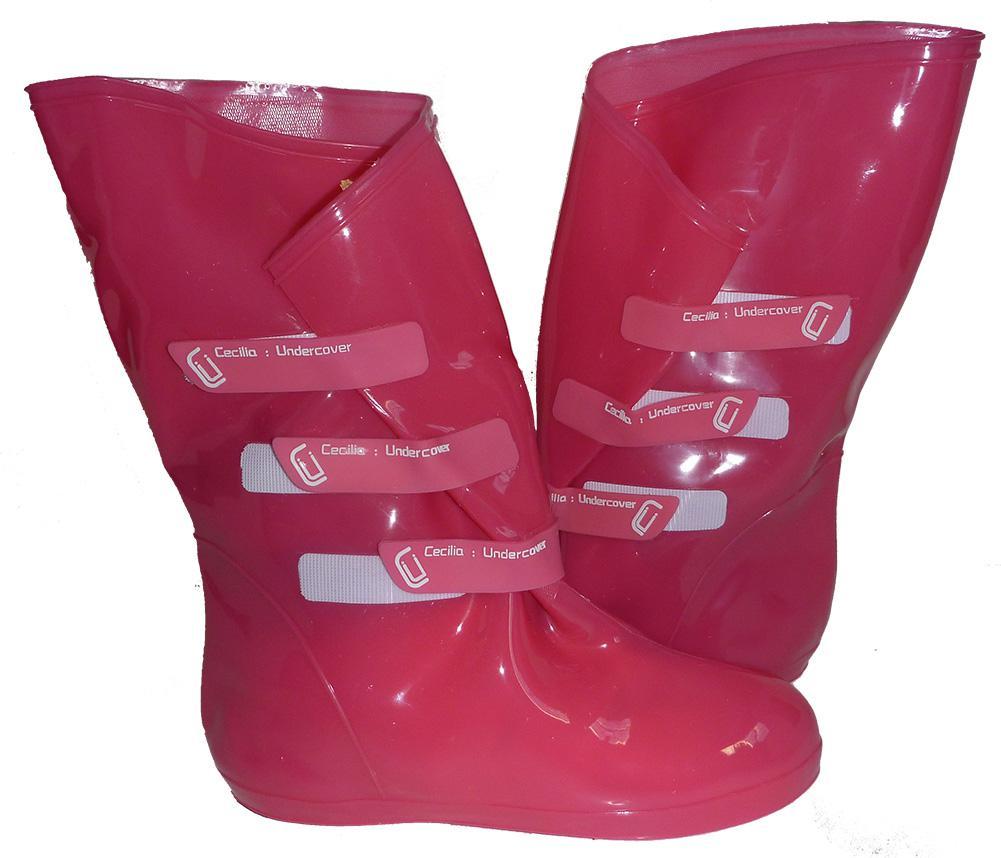 Cecilia Undercover Womens Omgaloshes Rain Boot Shoe Covers