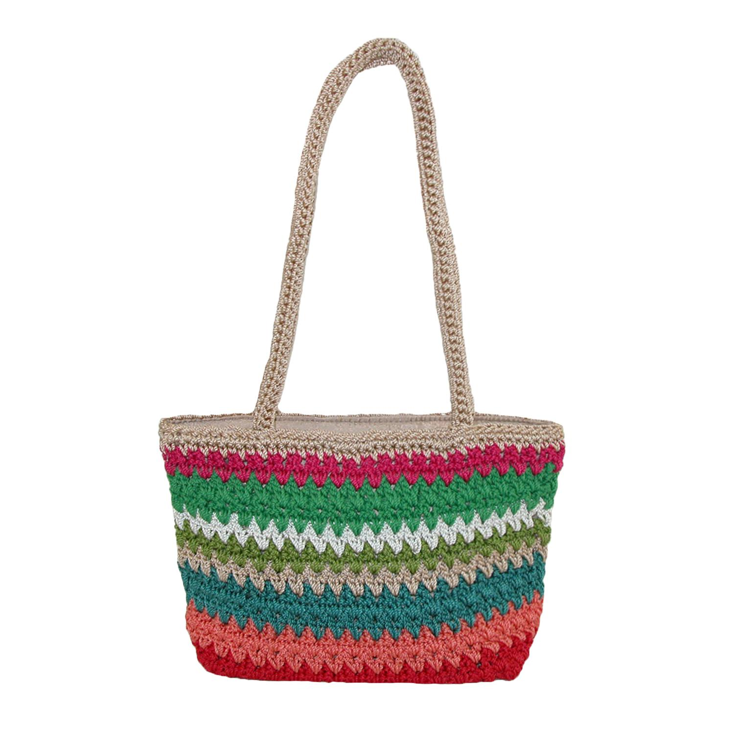 Dynamic Asia Women's Striped Crochet Handbag