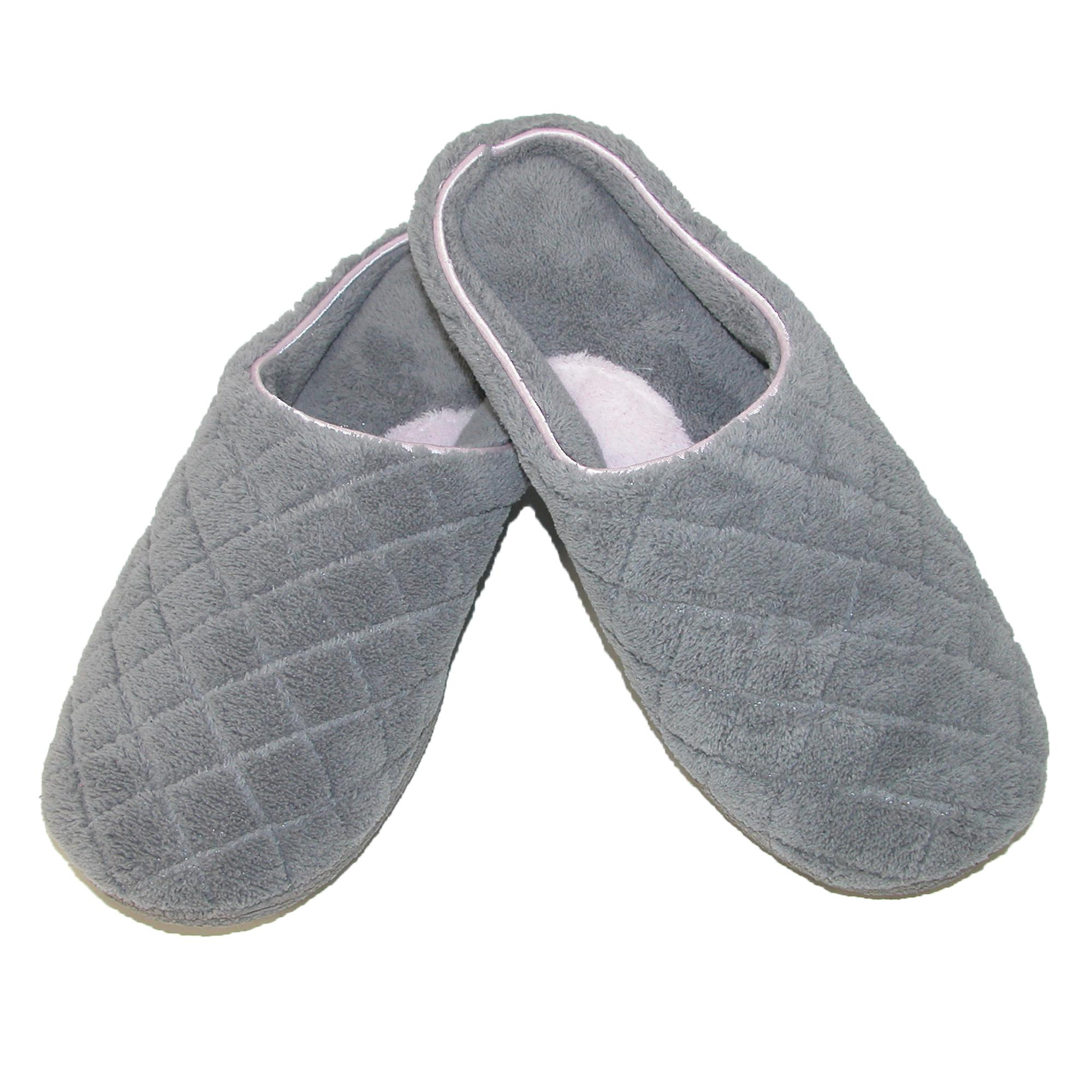 New Dearfoams Women S Quilted Microfiber Terry Clog Slipper