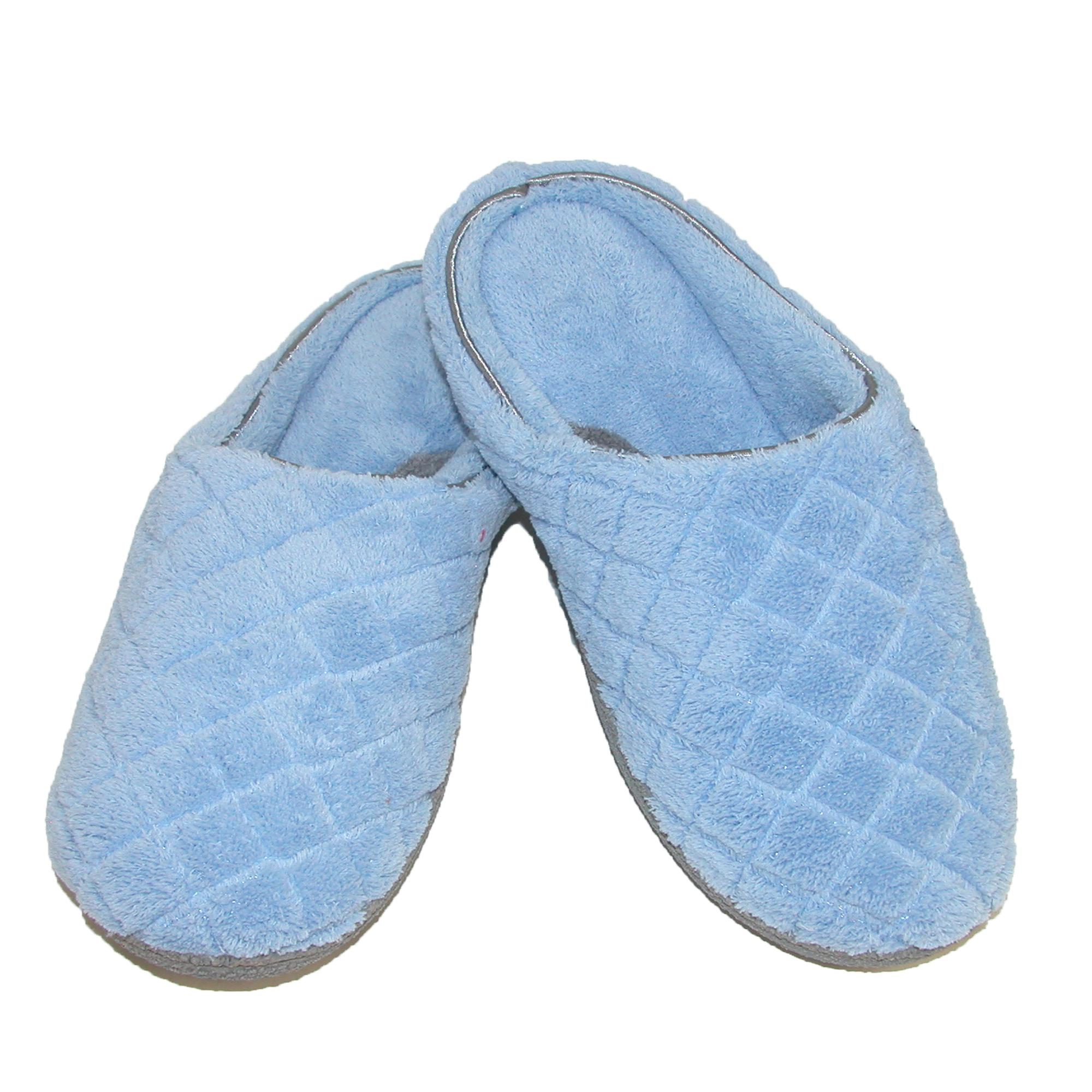 New Dearfoams Womens Quilted Microfiber Terry Clog Slipper