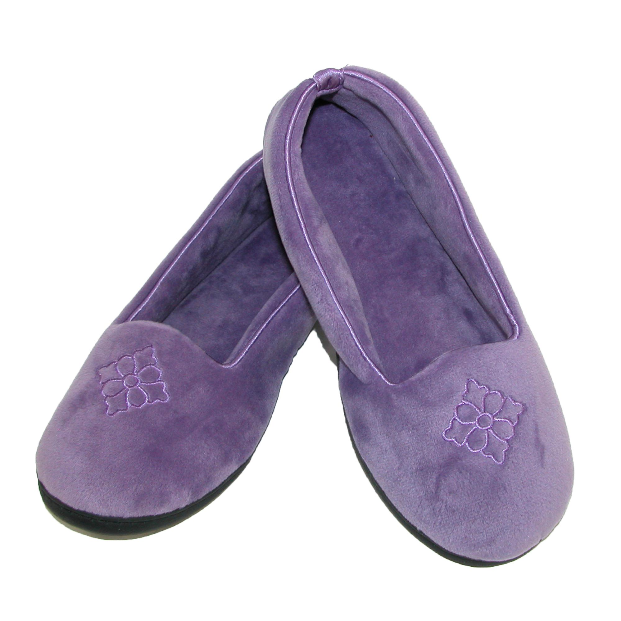 New Dearfoams Women S Terry Velour Embroidered Closed Back