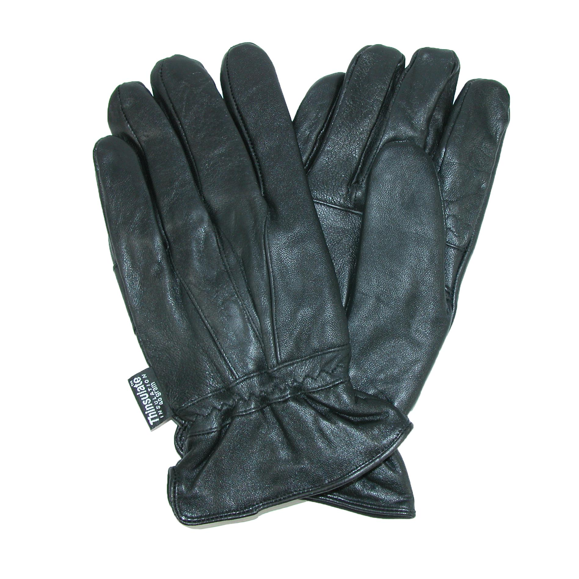Dorfman Pacific Mens Leather Water Repellent Gloves With Thinsulate