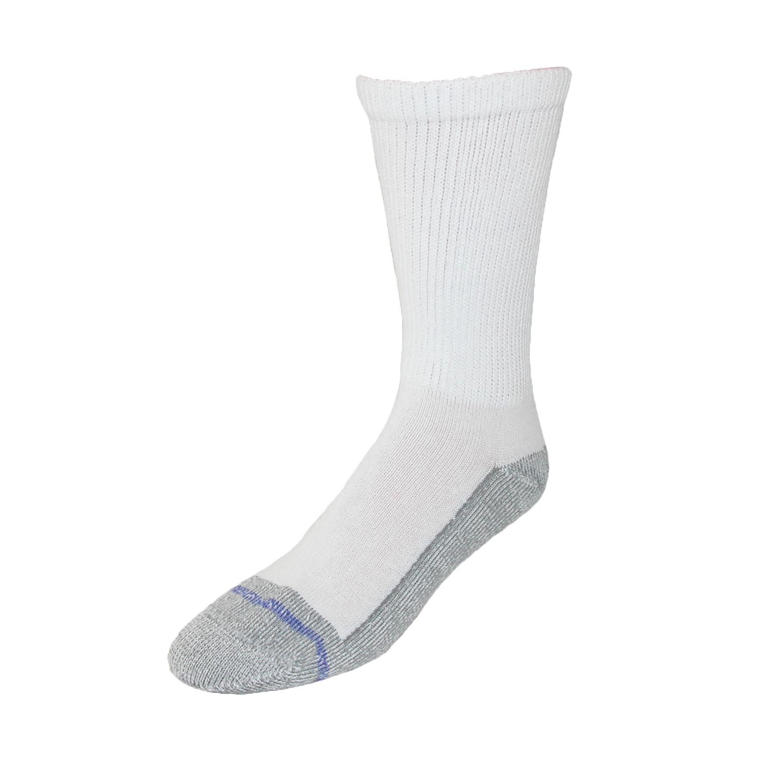 Extra Wide Sock Co. Cotton Loose Fit Stay Up Crew Sock