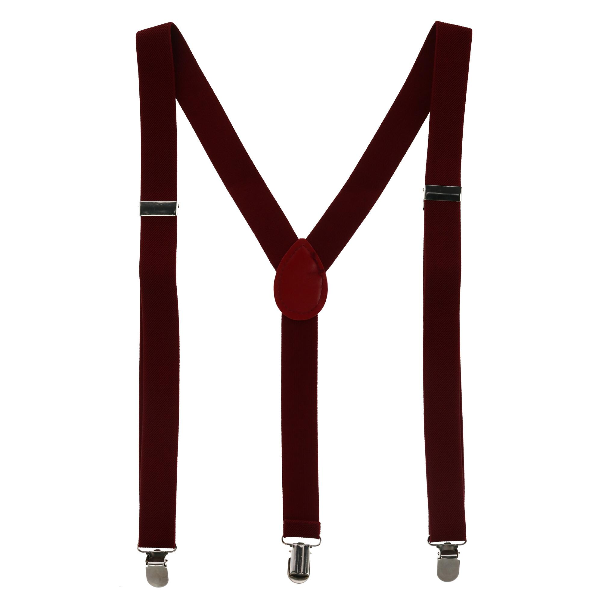 New CTM Men/'s Plaid Bow Tie and Solid Color Suspender Set