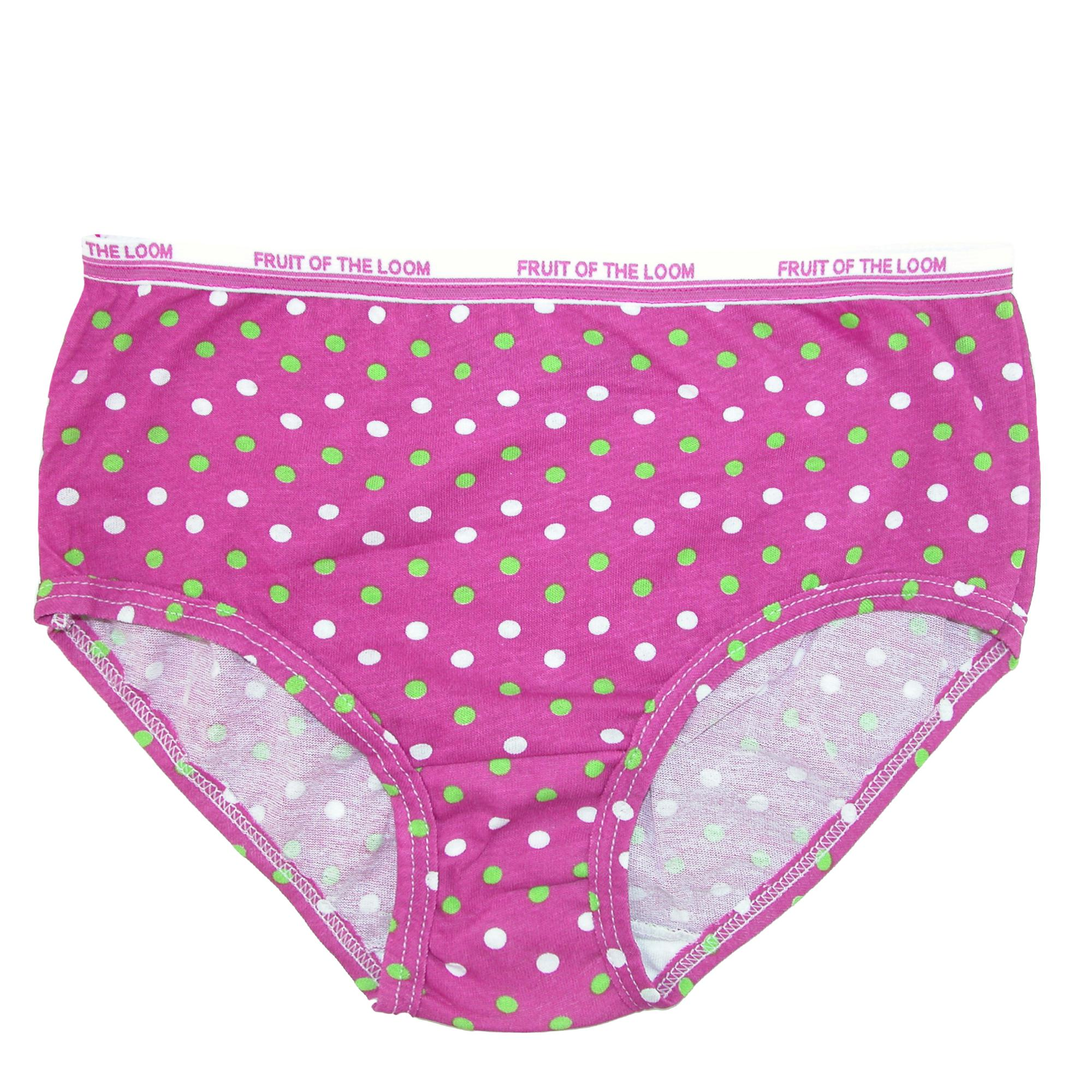 Pack of 6 New Fruit of the Loom Girl/'s Cotton Briefs Underwear