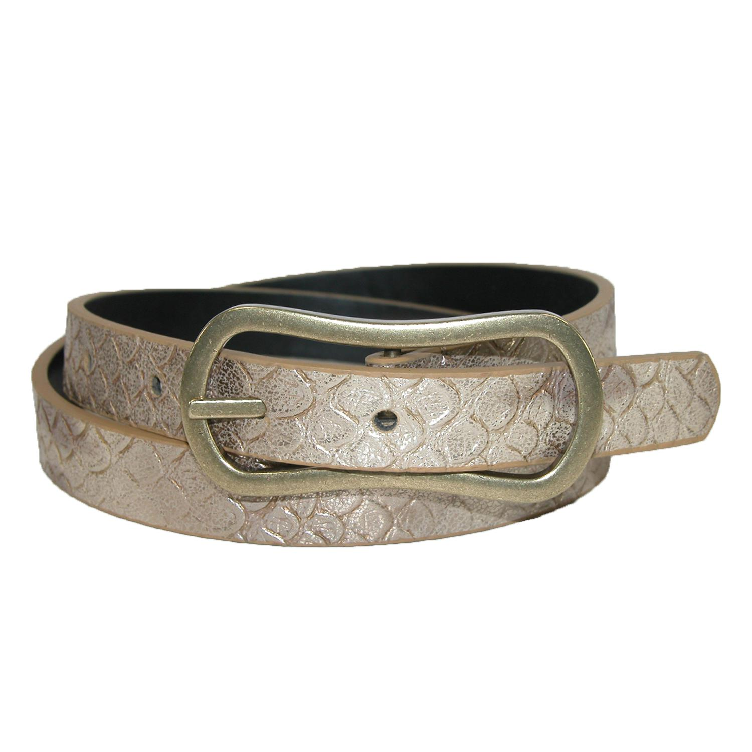 Pga Womens Reversible Snake Print To Solid Golf Belt
