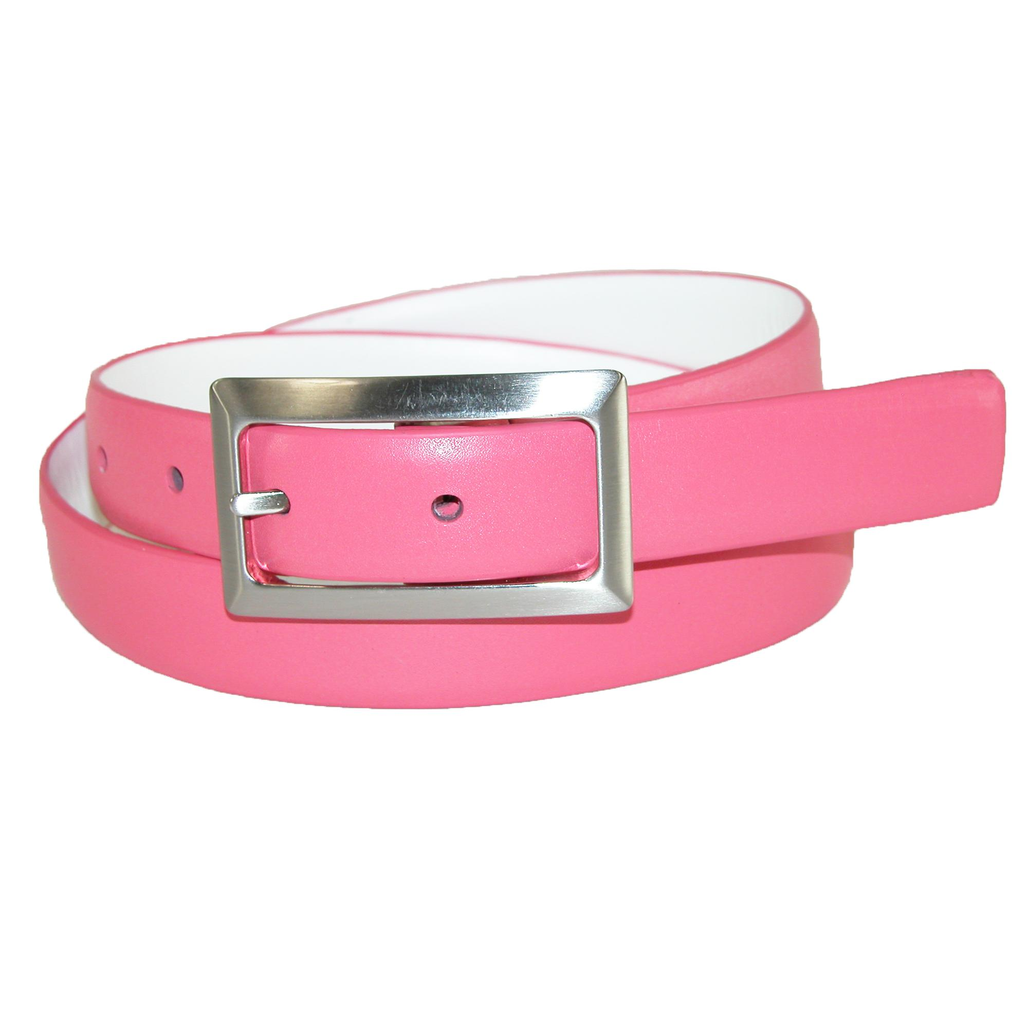 Pga Womens Leather Reversible Golf Belt With Center Bar Buckle