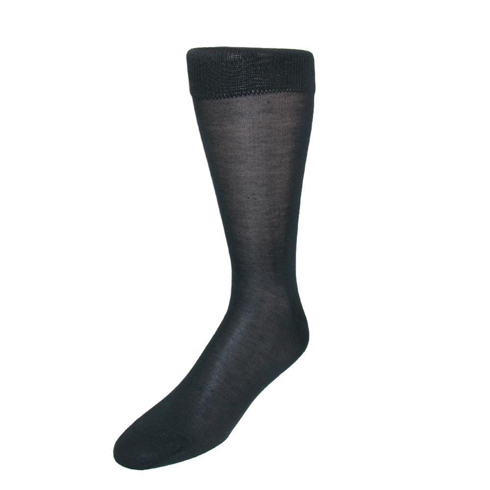 Windsor Collection Men's Silk Mid Calf Dress Socks