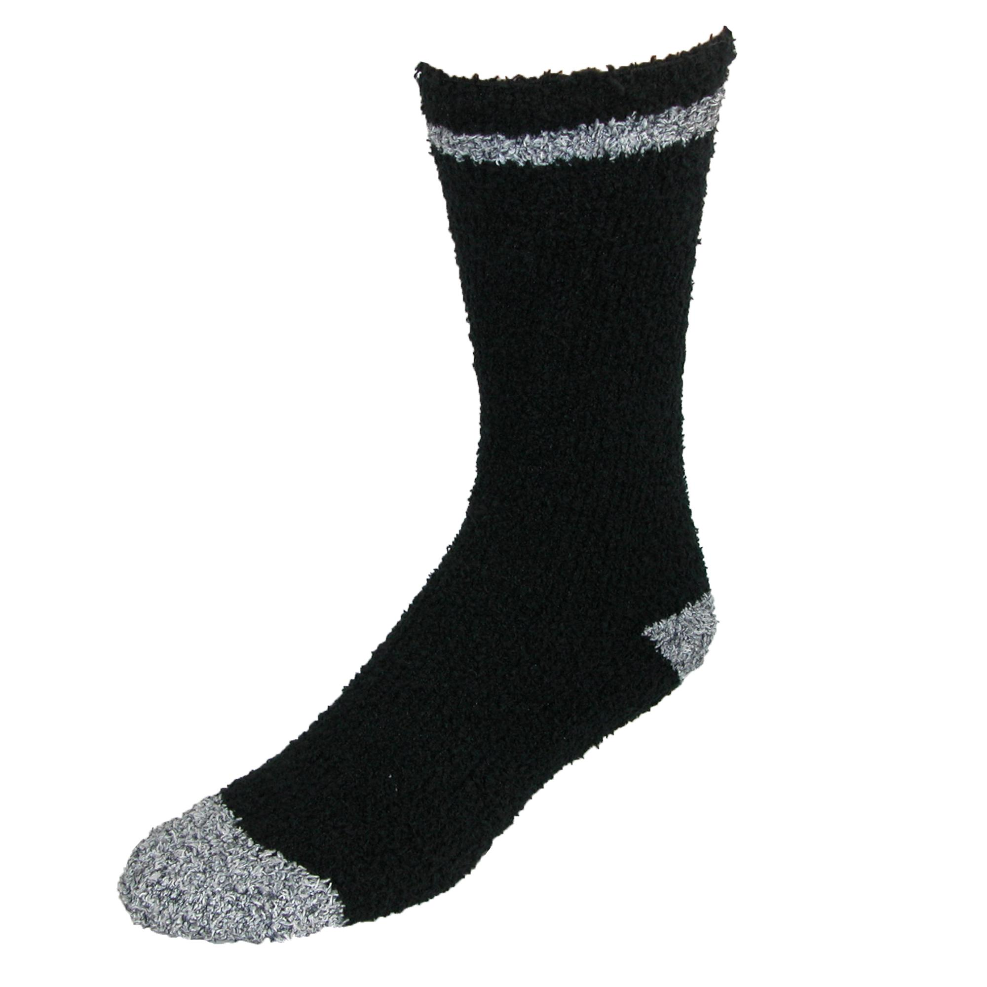 Beverly Hills Polo Club Mens Ultra Soft Slipper Socks (2 Pair Pack)