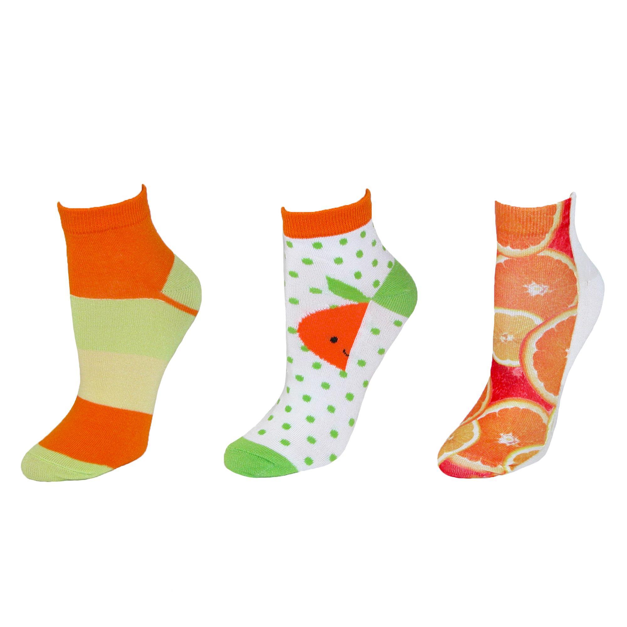 Ecko Womens Novelty Fruit Print Low Cut Socks<br /><br />Case of 3 Pair